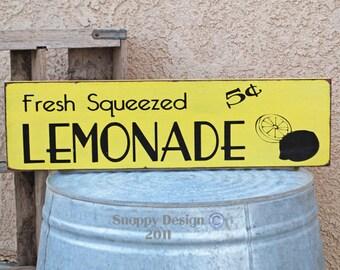 Fresh Squeezed LEMONADE Sign - Summer - Kitchen