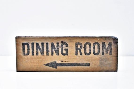 DINING ROOM Sign Rustic Living Room Vintage Home Door Custom