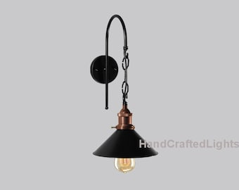 Vintage Retro Industrial wall lamp light copper lamp holder