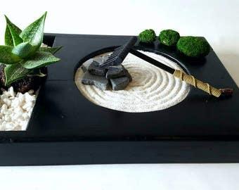 Extra Large Zen Garden Kit, Zen Garden Kit, Tranquility Garden,  Meditation Garden,  Japanese Rock Garden,  Desktop Zen Garden