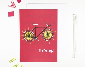 Ride On Bike Card for Cyclists