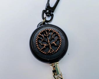 Copper World Tree HEAVY DUTY Steel Cable Badge Holder