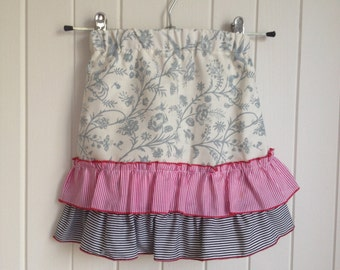 Size 1 Toddlers Summer Skirt with stripped flounces