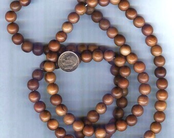 10mm Natural Date Wood Round Beads 18 pcs