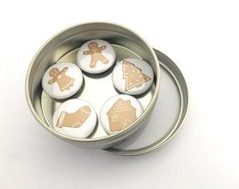 Customizable Gingerbread Magnet Set