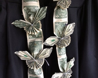 Butterfly Money Lei - Hawaiian Style Graduation Lei - Made to Order