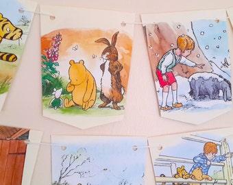 Winnie The Pooh Baby Shower Bunting - Baby Shower Banner - Baby Shower / Nursery Decoration.Decorative Book Garland- Baby Shower Decor.