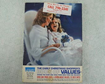 Christmas Catalog Vintage Montgomery Ward from 1975 Softcover