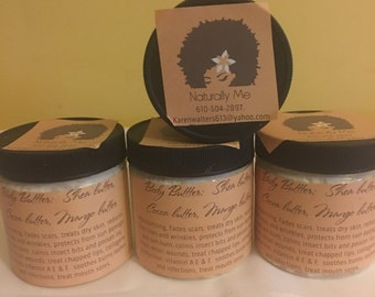 Whipped Body butter 4 oz. or 2 oz. or 8 oz. or 16 oz.  shea, cocoa, mango butters