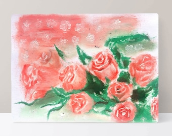 Flower oil painting (Garden)