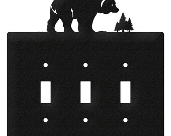 Bear Wildlife Light Switch Triple Plate Cover