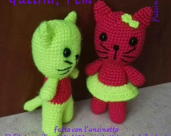 Cats, 9 cm, amigurumi, handmade, for gift, party, toys, puppets, dolls, animals, cat, cat, pussy, children, adults, babies