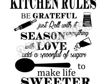 Kitchen Rules SVG dxf pdf Studio, Cutting Board SVG dxf pdf Studio, Cooking svg dxf pdf studio, kitchen svg dxf pdf studio