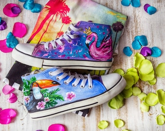 shoes hand painting
