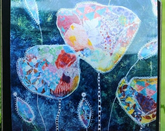 Art Print of Mixed Media Original artwork titled Abstract Tulips