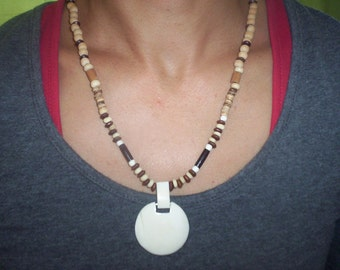 Bone Pendant, Tribal Necklace, Women's Jewellery, African, Natural, Earthy