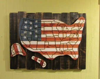 USA Rustic Map