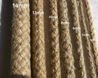 14MM DIAMETER.100% natural braided hemp rope.made in european union .professional quality.low price.save money.