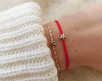 Een wens armband ster armband, zilveren ster armband, kleine ster armband, vriendschap armband maken