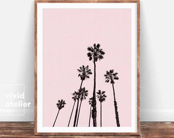 Palm Tree Print, California Wall Art, Beach Wall Art, Beach Decor, Prints Wall Art, Digital Print, Tropical Wall Art Print, Tropical Decor
