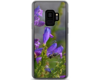 Purple Flowers and a Bee Samsung Case