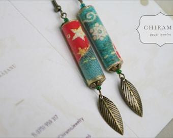 Warm Winter Paper Earrings