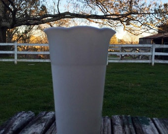 1930's-1940's Hazel Atlas Milk Glass Vase