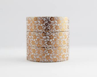 Washi tape foil tape copper flowers masking tape