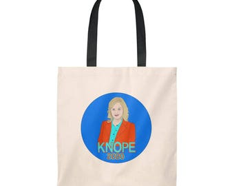 Leslie Knope 2020 Tote Bag * Parks and Rec Tote * Feminist Tote Bag * Parks and Recreation * Leslie Knope Tote * Knope 2020 * Parks and Rec
