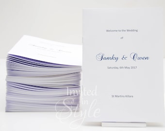 Order of Service, church booklets, order of proceedings, wedding programs - full design and assembly