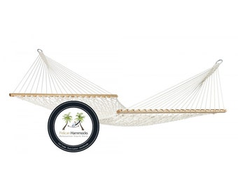 King Spreader Bar Hammock - Natural - 100% Hand Woven - Perfect for one adult!
