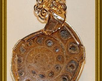 Ammonite Fossil Pendant