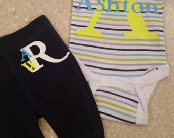Monogrammed Baby Outfit