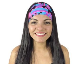 Aztec Yoga Headband Workout Headband Running Headband Women Turban Boho Wide Headband No Slip Headband Hippie Headband Wicking Headband S243