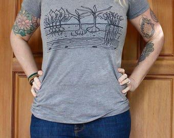 Veggie Garden T-Shirt - Women's FITTED Tri Blend - S, M, L, XL, 2X- Gardening, Farm, Homestead, Country, Root Veggies, Summer, Outdoors