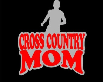 Graphic Hoodie Cross Country Mom Graphics French Terry Pullover Hoodie Next Level Two Color 60/40 Cotton Polyester