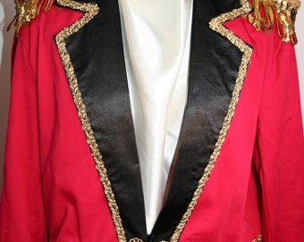 Adult Ringmaster Circus Tailcoat Jacket Costume - New Years, Birthday, Wedding, Pirate, Uncle Sam, Carnival, Circus, Halloween