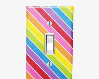 Rainbow room decor - Rainbow nursery - Rainbow light switch cover - Rainbow kids room -Rainbow bedroom - Decor for unicorn room