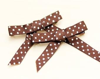 Ribbon Hair Clips, Ribbon, Hair Ribbon, Polka Dot Ribbon