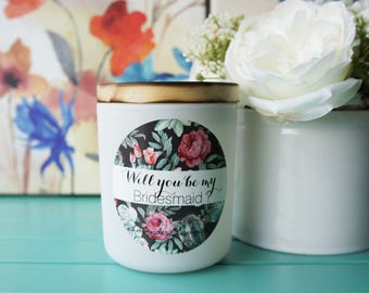 Scented Soy Candle/'BRIDESMAID'/ Lavender/Handpoured