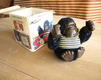 Vintage Tumbling Sam Gorilla Battery Operated Toy by House of Lloyd Inc.