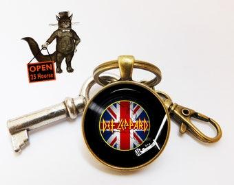 Music Keychain key ring, dj Keychain key ring, Music Musician Musical Keychain key ring, dj gift, Men's Jewelry,DJ gift,gifts for husband
