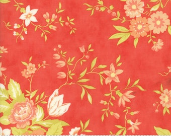Ella & Ollie - Meadow in Strawberry by Fig Tree and Co for Moda Fabrics