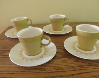 Sheffield China Serenade Cups and Saucers (Set of 4)