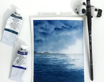 Brewing Storm - original watercolor painting