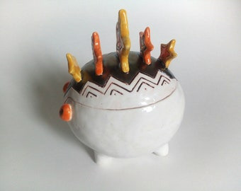 Casket Ceramics-Snaped Casket-For decorations-Jewerly box-Tea box ceramic-Sugar bowl ceramic-Ceramic for shelves