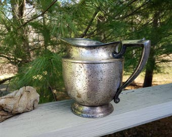 Hammered Nickel Silver Plate Pitcher