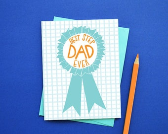 Best STEPDAD ever, Happy Father's Day, Father's Day Card, #1 Step Dad, Stepfather, Greeting Card, Stationery, World's Best Step Dad