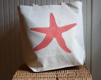 Starfish Tote Bag Hand Screened