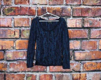 Coogi Vintage Scoop Neck Sweater Style Top